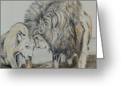 Friendly Pastels Greeting Cards - Love on the Plains Greeting Card by Teresa Smith