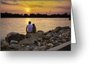 The Rocks Greeting Cards - Love On The Rocks In Brooklyn Greeting Card by Madeline Ellis