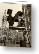 Philadelphia Greeting Cards - Love Philadelphia Greeting Card by Jack Paolini