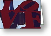 Wife Gift Greeting Cards - Love Philly Greeting Card by DJ Florek