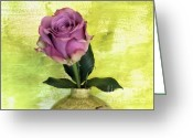 Lime Photo Greeting Cards - Love Rose Greeting Card by Marsha Heiken