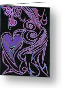 Kenneth James Greeting Cards - Love So Precious Greeting Card by Kenneth James