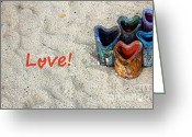 Can Art Greeting Cards - Love Greeting Card by Sophie Vigneault