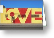Motown Greeting Cards - LOVE Store Front Greeting Card by David Kyte