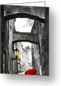 Figurative Mixed Media Greeting Cards - Love Story Greeting Card by Yuriy  Shevchuk