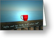 Ambition Greeting Cards - Love Tastes Best Greeting Card by Cyryn Fyrcyd
