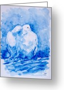 Most Painting Greeting Cards - Love  Greeting Card by Zaira Dzhaubaeva