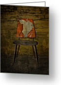 Orange Prints Greeting Cards - Loved Seat Greeting Card by Larysa Luciw
