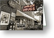 Establishment Greeting Cards - Lovelace Drugs Greeting Card by Scott Pellegrin