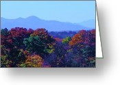 First Lady And President Greeting Cards - Lovely Asheville Fall Mountains Greeting Card by Ray Mapp
