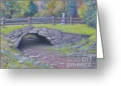 Stone Pastels Greeting Cards - Lovely Day at Idewild Park Greeting Card by Penny Neimiller