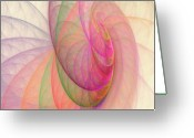 Round Shell Digital Art Greeting Cards - Lovely Morning Greeting Card by Angela A Stanton