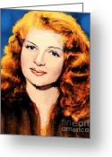 Hayworth Greeting Cards - Lovely Rita Greeting Card by Arne Hansen