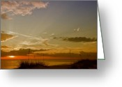Surge Greeting Cards - Lovely Sunset Greeting Card by Melanie Viola