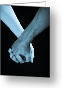 Man And Woman Greeting Cards - Lovers Hands Greeting Card by Scott Sawyer