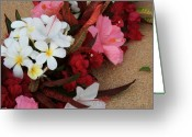 Hawaiian Art Photo Greeting Cards - Lovers in Paradise Greeting Card by Sharon Mau