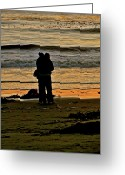 San Simeon Greeting Cards - Lovers Greeting Card by Liz Vernand