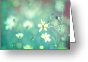 Floral Print Greeting Cards - Lovestruck Greeting Card by Amy Tyler