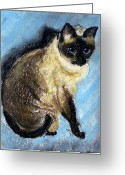 Blues Pastels Greeting Cards - Lovey Greeting Card by Jamie Frier
