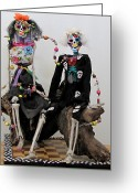 Whimsical Sculpture Greeting Cards - Lovin You Forever And Beyond Greeting Card by Keri Joy Colestock