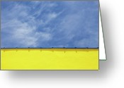 Wrightsville Greeting Cards - Low Angle Close Up View Of A Wall And Sky Greeting Card by Sean Russell
