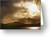 Sunset Wall Art Greeting Cards - Low Clouds On The Colorado Rocky Mountain Foothills Greeting Card by James Bo Insogna