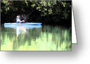 Lake Low Country Greeting Cards - Low Country Drift and Cast Greeting Card by Geoff Robles