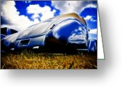Custom Roadster Greeting Cards - Low Ford Roadster Greeting Card by Phil