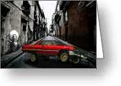 Vato Digital Art Greeting Cards - Low Rider Greeting Card by Monday Beam