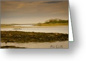 Twilight Photo Greeting Cards - Low Tide Cape Porpoise Maine Greeting Card by Bob Orsillo