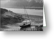 Tidal River Greeting Cards - Low Tide Greeting Card by Mark Hughes