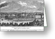 Merrimac Greeting Cards - Lowell: Factories, 1844 Greeting Card by Granger