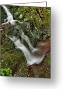 Buttermilk Greeting Cards - Lower Buttermilk Falls Greeting Card by Stephen  Vecchiotti