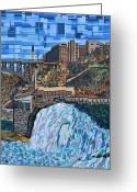 Rochester Ny Greeting Cards - Lower Falls Greeting Card by Micah Mullen