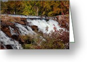 Folage Greeting Cards - Lower Falls on the LaChute River in Ticonderoga Greeting Card by David Patterson