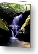 Ohio Country Greeting Cards - Lower Grotto Falls Greeting Card by Robert Harmon