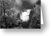 Black Mesa Greeting Cards - Lower Mesa Falls Greeting Card by Leland Howard