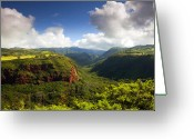 Waimea Greeting Cards - Lower Wiamea View Greeting Card by Mike  Dawson