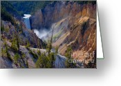 Lower Yellowstone Falls Greeting Cards - Lower Yellowstone Falls Greeting Card by Idaho Scenic Images Linda Lantzy