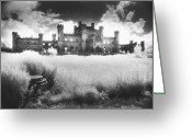 English Garden And House Greeting Cards - Lowther Castle Greeting Card by Simon Marsden