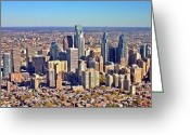 Duncan Pearson Greeting Cards - LRG Format Aerial Philadelphia Skyline 226 W Rittenhouse Sq 100 Philadelphia PA 19103 5738 Greeting Card by Duncan Pearson