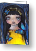 Vampire Painting Greeting Cards - Lu Greeting Card by  Abril Andrade Griffith