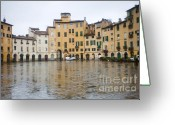 Tuscan Greeting Cards - Lucca Greeting Card by Andre Goncalves