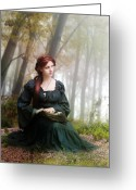 Gown Greeting Cards - Lucid Contemplation Greeting Card by Karen Koski