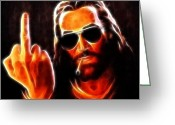 Good Friday Digital Art Greeting Cards - Lucifer This is For You No2 Greeting Card by Pamela Johnson