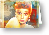 Lucille Ball Greeting Cards - Lucille Ball Greeting Card by Kevin Moore