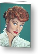 Lucille Ball Greeting Cards - Lucille Ball Greeting Card by Tom Carlton