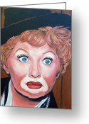 Royal Gamut Art Greeting Cards - Lucille Ball Greeting Card by Tom Roderick