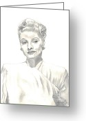 Lucille Ball Greeting Cards - Lucille Greeting Card by Carol Wisniewski