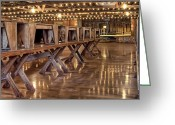 Hall Photo Greeting Cards - Luckenbach Dance Hall Greeting Card by Scott Norris
